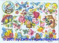 Glanzbilder Vögel und Blumen ohne Glimmer