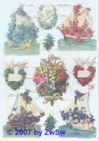 Glanzbilder Blumenschiffe ohne Glimmer