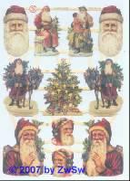 Glanzbild Nikolaus ohne Glimmer