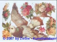 Taube und Rosen ohne Glimmer