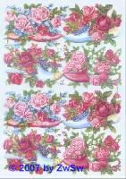 Glanzbilder Rosenschuhe ohne Glimmer