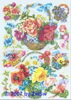 Glanzbilder Blumenkörbe ohne Glimmer