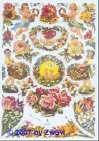 Glanzbilder Blumenmotive ohne Glimmer