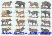 Glanzbilder heimische Tiere ohne Glimmer