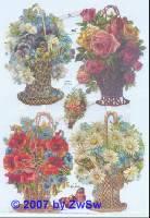 Glanzbilder Blumenmotive groß ohne Glimmer
