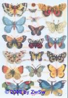 Glanzbilder Schmetterling ohne Glimmer