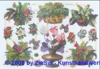 Glanzbilder Blumen ohne Glimmer