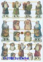 Glanzbilder Weihnachtsmänner ohne Glimmer
