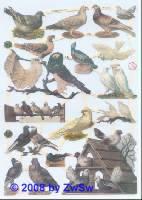 Glanzbilder Tauben ohne Glimmer