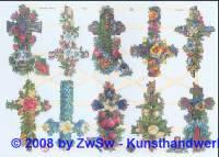Glanzbilder Kreuze kl. ohne Glimmer