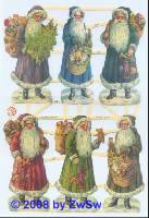 Glanzbilder Weihnachtsmann ohne Glimmer