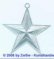 1 Stern in silber 9,5 cm