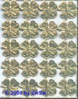 Kleeblatt in gold  20 Stück