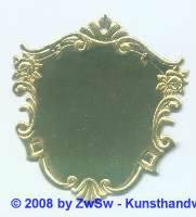 Wappenschild gold 1 Stück