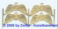 4 Flügel mit Öse gold
