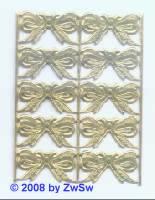 10 Schleifen gold