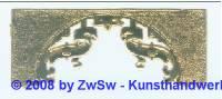 Zierelement gold 1 Stück 9,5cm x 3,8cm