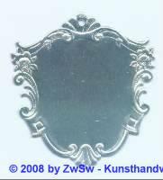 Wappenschild silber 1 Stück