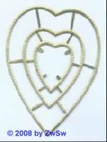 Herzrahmen 3-fach 1 Bogen