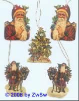 Geschenkanhänger Nikolaus und Christbaum