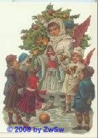 Schmuckkarte Christkind