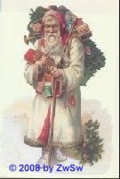 Schmuckkarte Weihnachtsmann in weiß