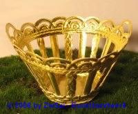 Goldkörbchen rund