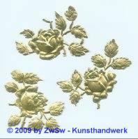 3 Rosen beidseitig gold
