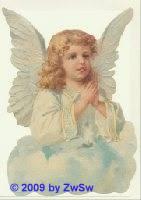 Schmuckkarte betender Flügelengel