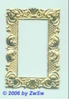 kleiner Rahmen, einseitig gold, ca. 55mm x 37mm