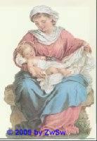 Aufstellschmuckkarte Maria mit Kind