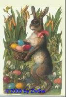 Aufstellschmuckkarte Der Eierverstecker