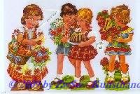 gratulierende Kinder ohne Glimmer