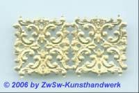 Eckelement, einseitig gold, ca. 17mm x 10mm