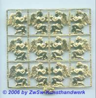 Engelpaar, einseitig gold, ca. 25mm x 20mm