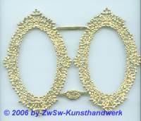 Rahmen, 2fach, einseitig gold, ca. 79mm x 50mm