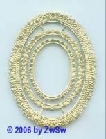 Rahmen, 3fach, einseitig gold, ca. 80mm x 60mm