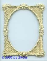 Rahmen, einseitig gold, ca. 85mm x 110mm
