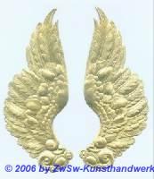 Engelsflügel, beidseitig gold, ca. 70mm x 185mm