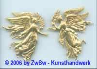 Engel mit Palmzweig, ca. 45mm x 38mm