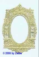 Altarrahmen oval, gold, ca. 63mm x 40mm