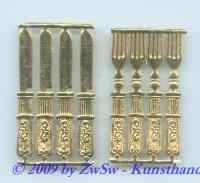 Besteck goldgeprägt, ca. 40mm x 5mm