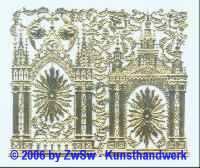 Kirchenportale mit versch. Ornamenten, ca. 125mm x 105mm