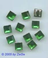Quadrate gefasst 1 Stück, 8mm x 8mm smaragd