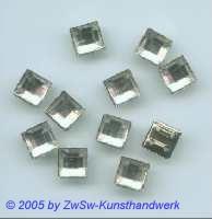 Quadrate gefasst 1 Stück, 8mm x 8mm kristall