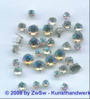 Strass/Splintfassung 1 Stück 8,5mm (kristall/AB)