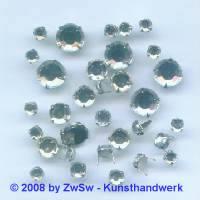 Strass/Splintfassung 1 Stück 4mm (kristall)