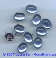 Strass/Splintfassung 1 Stück, 14mm x 10mm (hellblau)