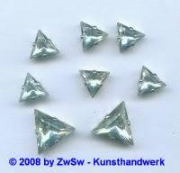 Schmuckstein gefasst 12mm x 12mm x 12mm kristall