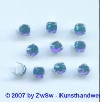 Strass/Splintfassung 1 Stück 4mm (dunkelblau/AB)